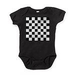 Chess Checker Board Baby Bodysuit