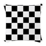 Chess Checker Board Woven Throw Pillow