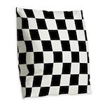 Chess Checker Board Burlap Throw Pillow