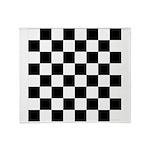 Chess Checker Board Throw Blanket
