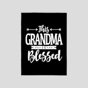 Blessed Grandma 5'x7'Area Rug