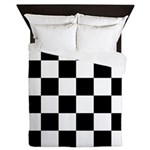Checker pattern Queen Duvet