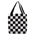 Checker pattern Polyester Tote Bag