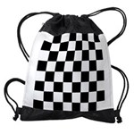 Checker pattern Drawstring Bag