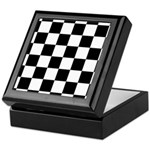 Checker pattern Keepsake Box