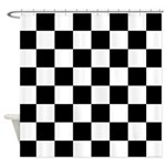 Checker pattern Shower Curtain
