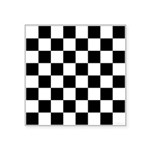 Checker pattern Square Sticker 3