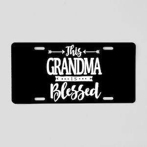 Blessed Grandma Aluminum License Plate