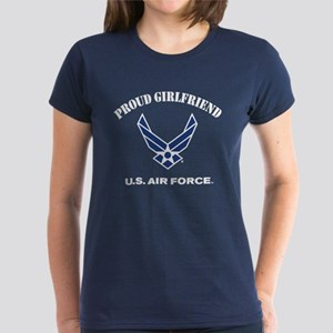 Proud US Air Force Girlfriend Women's Dark T-Shirt