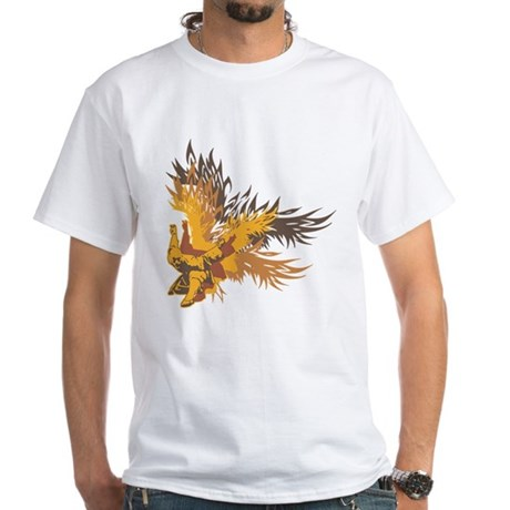 """""""Eagle Claw Kung Fu"""" White T-Shirt"""