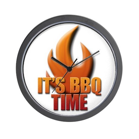 It's BBQ Time Wall Clock
