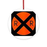 RR Crossing Sign Keepsake (Round)