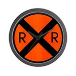 RR Crossing Sign Wall Clock