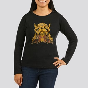"""Tiger Kung Fu"" Women's Long Sleeve Dark"