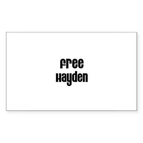 Free Hayden Rectangle Sticker