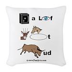 safe a life funartz Woven Throw Pillow