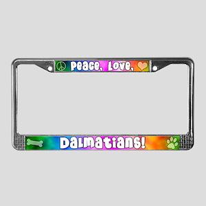 Hippie Dalmatian License Plate Frame