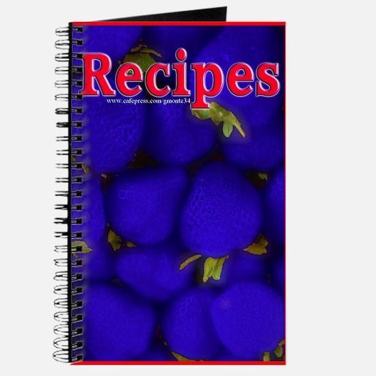 Blue Strawberry Blank Recipe Book 2