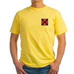 RR Crossing Sign Yellow T-Shirt