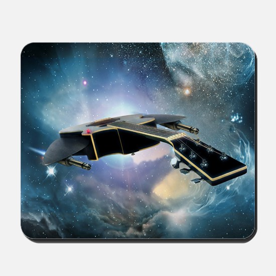 Guitar Spaceship Mousepad