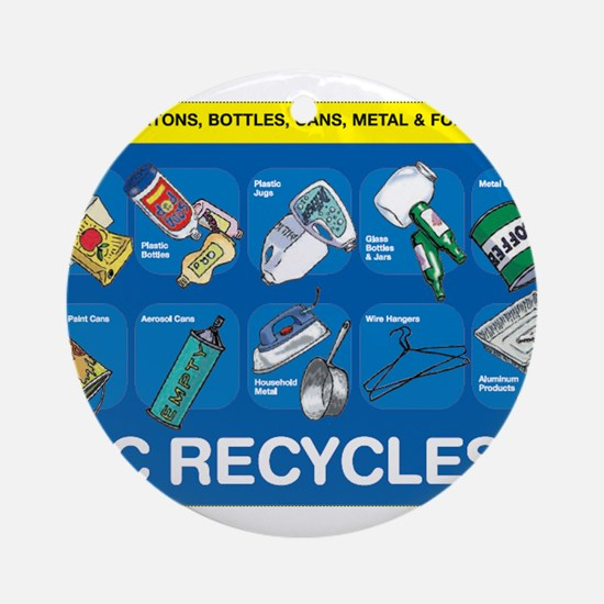 NYC Recycles Ornament (Round)