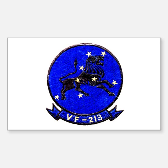 VF 213 Black Lions Rectangle Decal