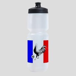 French Football Flag Sports Bottle