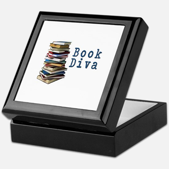 Book Diva (w/books) Keepsake Box