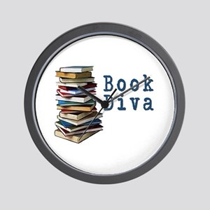 Book Diva (w/books) Wall Clock