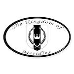 Kingdom of Meridies Oval Sticker (10 pk)