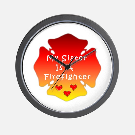 Firefighter Sister Wall Clock