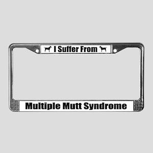 Multiple Mutt Syndrome License Plate Frame