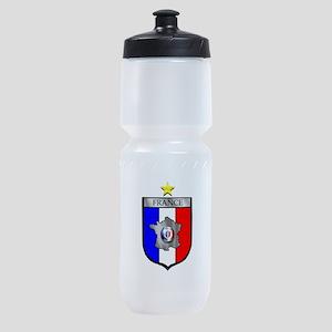 French Football Shield Sports Bottle