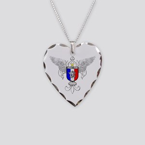 French Graphic Necklace Heart Charm
