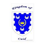 Kingdom of Caid Rectangle Sticker 10 pk)
