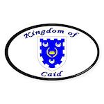 Kingdom of Caid Oval Sticker (10 pk)