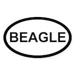 Beagle Oval Sticker (50 pk)