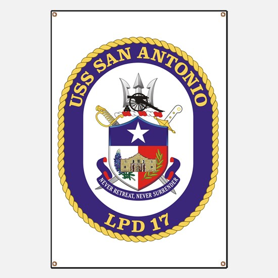 USS San Antonio LPD 17 Banner