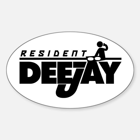 Resident DJ Oval Decal