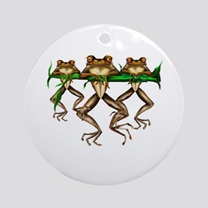 Three Frogs Ornament (Round)