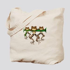 Three Frogs Tote Bag