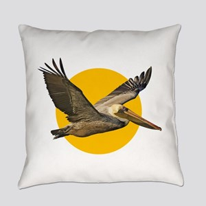 Brown Pelican Everyday Pillow