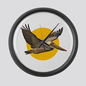 Brown Pelican Large Wall Clock