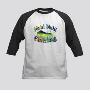 Mahi Mahi Fishing Kids Baseball Jersey