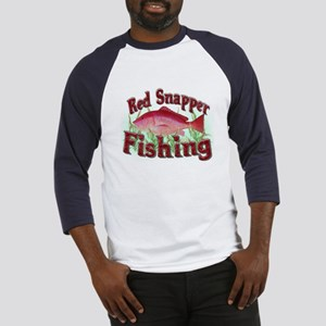 Red Snapper Fishing Baseball Jersey