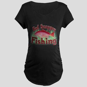 Red Snapper Fishing Maternity Dark T-Shirt
