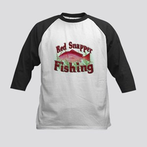 Red Snapper Fishing Kids Baseball Jersey