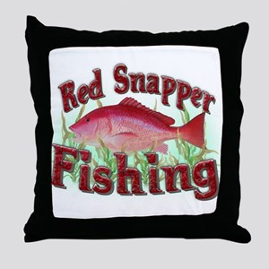 Red Snapper Fishing Throw Pillow