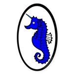 Atlantia Populace Oval Sticker (10 pk)