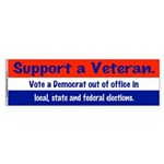 Support A Veteran Bumper Sticker